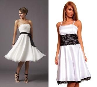 v černobílých šatech budete něžná