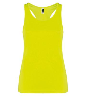 Dámské sportovní tričko s žebrovanými průramky a průkrčníkem. Zadní strana je v plaveckém stylu. Vynosíte jej do fitka i na běh v přírodě.