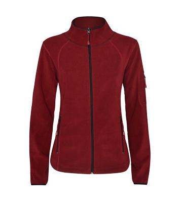 Dámská mikrofleecová sportovní bunda s vysokým límcem, dlouhým rukávem s lemováním v kontrastní barvě. Tuhle musíte mít!