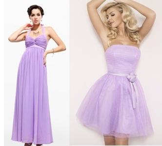 ve fialkových šatech budete přitažlivá a sexy